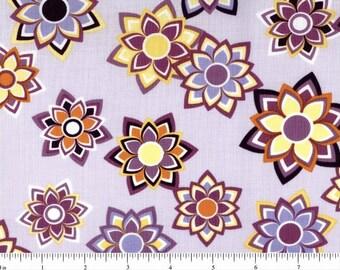 Free Spirit Fabric - 1 Yard Cut - Purple fabric - Quilting fabric - Cotton - Fabric