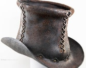 Leather Top Hat - Split Leather