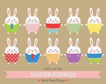 Easter Bunny Clip Art, Easter Clip Art, Printable Clip Art, Easter Bunnies, Instant Download