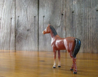 Hubley Bay in Small - Vintage 1940s Cast Iron Thoroughbred Mare