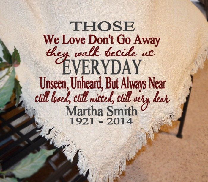 Personalized Sympathy Afghans Memorial Throws By Knkmonograms