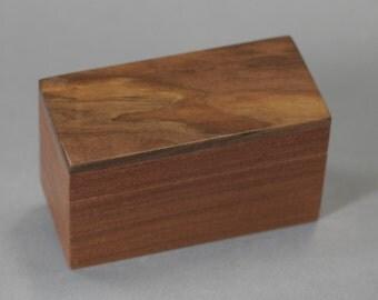 Small Sapele wood box with a Walnut top. Keepsake Gift Jewelry box 4 7/8 x 2 1/4 x 2 3/4