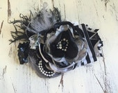 Spooky Nights- Baby Girl Headband- Baby Headband- Flower Girl Headband- Black Headband-Girls Headband-Hair Bow