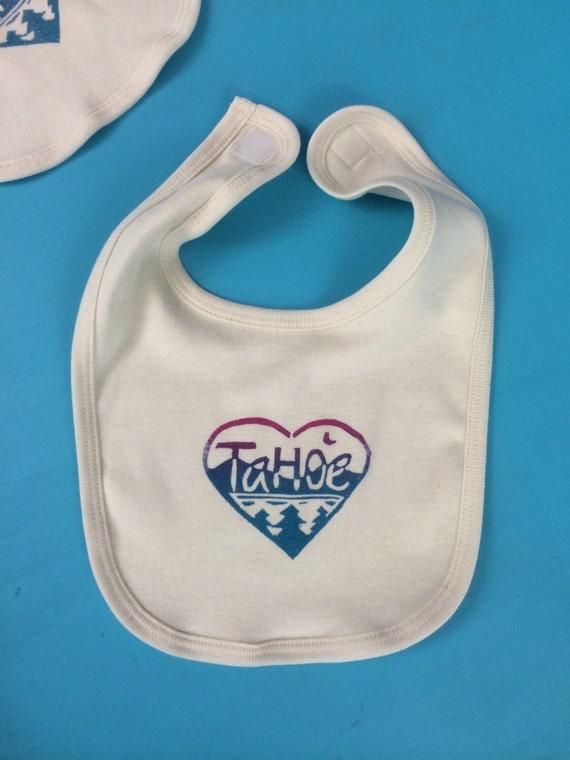 Organic cotton Tahoe Love baby bib