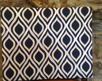 Navy Wave 16x20 French Memo Board
