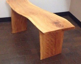 Wood plank table or bench