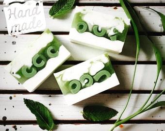 Bamboo Mint Soap, Moisturizing Soap, Bath Soap, Decorative Soap, Fresh