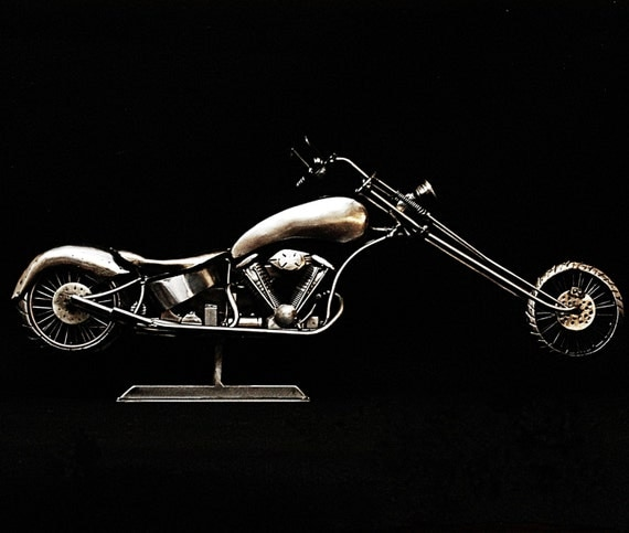 "Custom Chopper,Mocycle Metal Sculpture, ""The Outlaw Within"",2016"