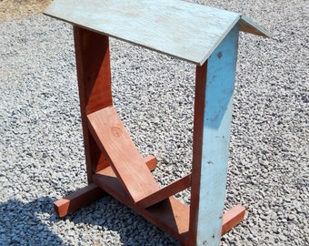 Vintage Wood Saddle Stand Country Cowboy 1960s Farmhouse Western Equestrian Horseback Riding Cattle Horse Ranch Mid Century Display Stand