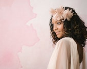 Stunning delicate petite berry stem feather flower bridal flower crown Aerial #05FC