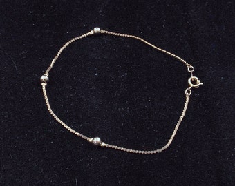 Silver Tone Anklet or Plus Size Bracelet