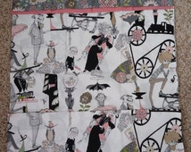 "Pillowcase Kit King Size ""The Ghastlie's""  End Smoke and Garden Flower Cotton Fabrics"