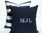 Monogram Pillow - Personalized Pillow - Initial Pillows - Pillows  - Monogrammed Pillow - Pillow Covers - Decorative Pillows -