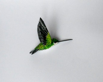 papier mache hummingbird art  sculpture ornaments  bird