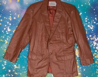LARIAT Western Leather Jacket Men's Size 44