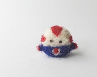 peppermint butler Adventure Time Needle felted hand felted merino wool miniature collectable handmade felted art