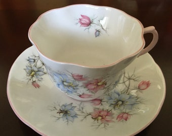Queens Fine Bone China Cup and Saucer, Centenary Pear.