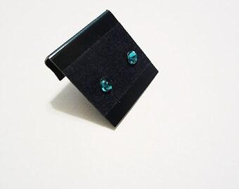 Newborn/Toddler December Birthstone Pierced Earrings