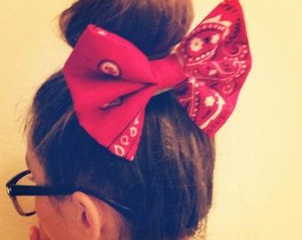 Oversized Bandana Bows Hair Clips