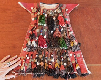 OOAK Vintage Central Asian Turks Child's Clothing, Ceremonial Vestment, WorldWide Express Shipping, Nomad Traditional Kuchi Ethnic