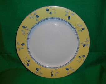 """One (1), 10 1/4"""" Dinner Plate, from Royal Doulton, in the Blueberry Pattern."""