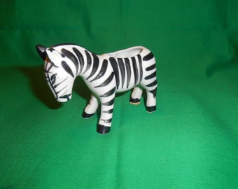 One (1) Porcelain Zebra Figurine Toothpick Holder, Occupied Japan.