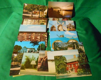 Twenty (20) Unused, 1950/1960's Post Cards from Cape Cod, Massachusetts
