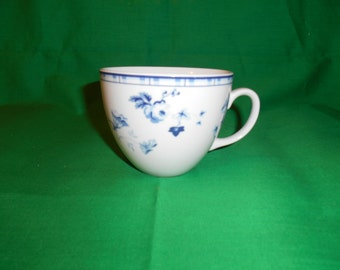 "One (1), 3"" Flat Tea Cup , from Laura Ashley, in the Sophia-Blue Pattern."