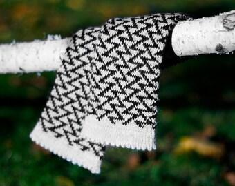 Knit fingerless gloves, alpaca wrist warmers, womens hand warmers, black and grey