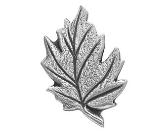 2 Leaf 1 inch ( 25 mm ) Pewter Buttons