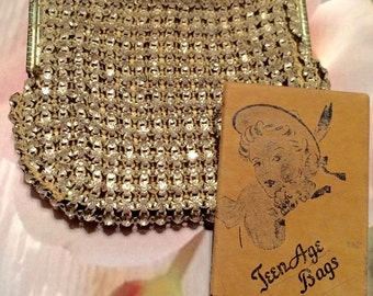 Vintage Rhinestone Bag 1950's Holiday, Absolutely Exqusite