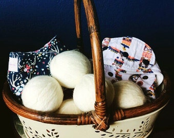 100% Wool Dryer Ball Set of 4 - Handmade in USA