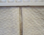 """Tailored Crib Skirt:  neutral baby bedding,  luxury crib skirt, READY TO SHIP,  """"Oatmeal & Cream"""" cotton luxe collection,"""