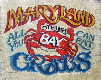 Maryland Crabs  Seafood Print