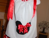 Minnie Mouse Inspired Pillowcase Dress with Matching Headband