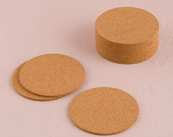 Wedding Crafts Blank Cork Coasters for Stamping 25 Coasters Create Your Own Beverage Drink Coasters for Weddings Parties and Special Events