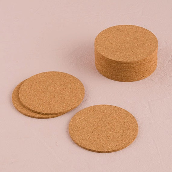 Wedding crafts blank cork coasters for stamping 25 coasters for Cork coasters for crafts