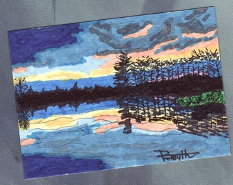 Sunset (ACEO) - By Donna Forsyth