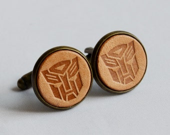 Vintage Style Personalized Transformer Cufflinks- Autobot Optimus Prime Cufflinks with a gift box