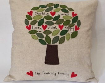 Family Tree Cushion Cover - Large