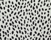 Upholstery Velvet Dalmatian 56 inch Fabric by the yard, 1 yard