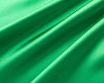 Charmeuse Stretch Solid Kelly Green 60 Inch Fabric by the Yard, 1 Yard