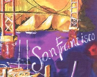 ℳ San Francisco Golden Gate Bridge 100% Cotton 45 Inches Wide FC11865