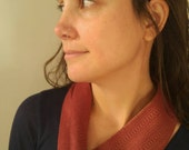 Handwoven, hand dyed mini cowl- red, rust