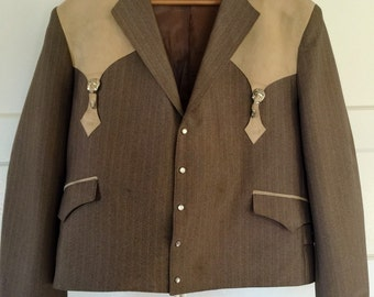 Vintage 70s Western Jacket Cowboy L
