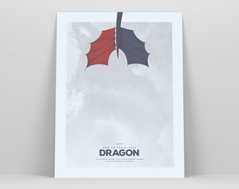 How To Train Your Dragon ~ Movie Poster, Toothless Poster, Film Gift, Art Print by Christopher Conner