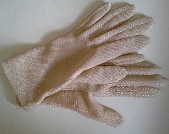 Vintage gold wrist gloves sml