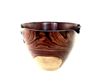 Wood Bowl No.160425 - Cocobolo Natural Edge