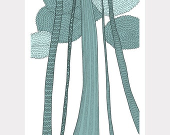 SALE / Trees / A4 Giclee print / Forest Art print / Nature Illustration / Contemporary art