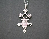 Warrior necklace, sterling silver tribal pendant, aztec, idol charm, festival jewelry, long silver necklace, crashandduchess - native love